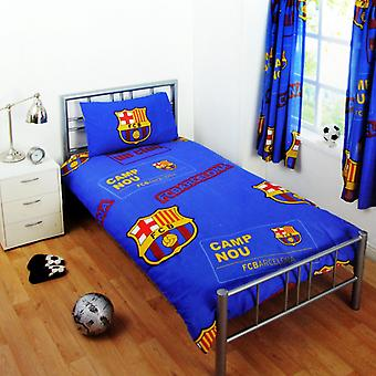 FC Barcelona Childrens/Kids Official Patch Football Crest Single Duvet Set