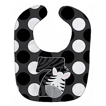 Carolines Treasures  BB9014BIB Zoo Month 7 Zebra Baby Bib