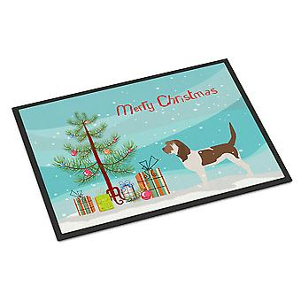 Grand Basset Griffon Vendeen Merry Christmas Tree Indoor or Outdoor Mat 18x27