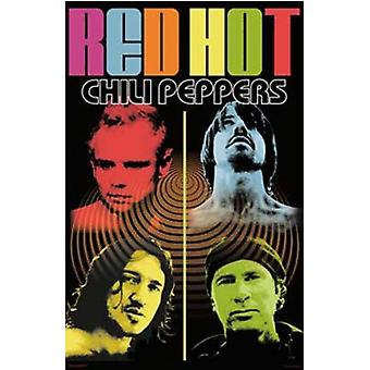 Red Hot Chili Peppers - Quad Color Quad Poster Poster Print