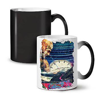 Space Classic Art Fashion NEW Black Colour Changing Tea Coffee Ceramic Mug 11 oz | Wellcoda
