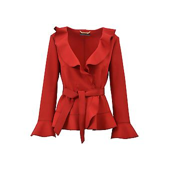 Alberta Ferretti women's 05035120A0117 red wool jacket