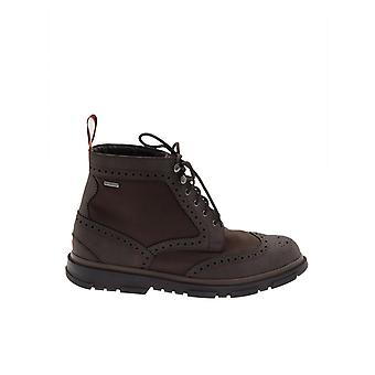 Swims men's STORMBROGUEHIGHBB brown leather ankle boots