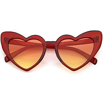 Oversize Extreme hart zonnebril kleur verloop Lens 51mm