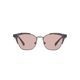 Valentino Metal Mix Butterfly Sunglasses In Dark Opal Grey