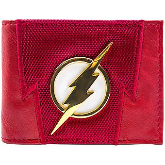 DC Flash lyn Badge trop op ID & Card Bi-Fold tegnebog