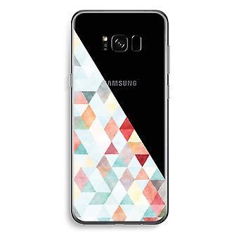 Samsung Galaxy S8 Plus caja transparente (suave) - triángulos de colores pastel