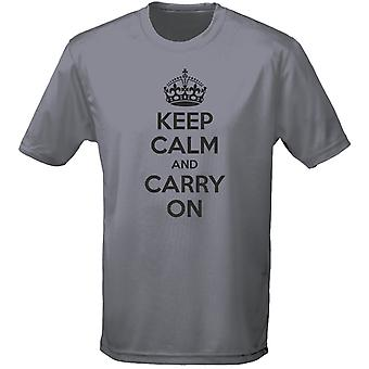 Keep Calm And Carry On Mens T-Shirt 10 Colours (S-3XL) by swagwear