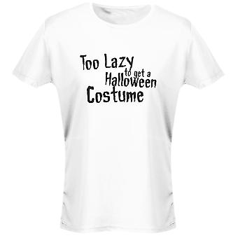 Too Lazy To Get A Halloween Costume Scary Fancy Dress Funny Womens T-Shirt 8 Colours by swagwear