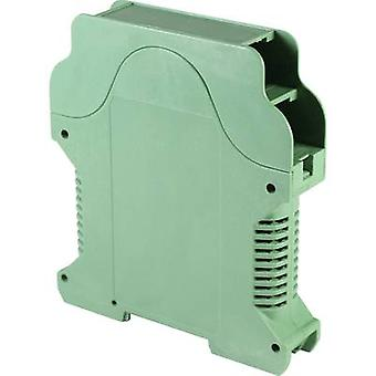 DIN rail casing with air vents 112 x 99 x 22.5 Polyamide Green