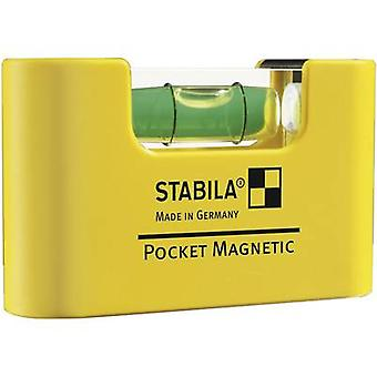 Mini spirit level 7 cm Stabila POCKET MAGNETIC
