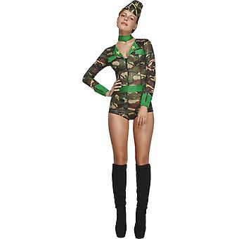 Military costume set ladies 4 piece soldier costume camouflage