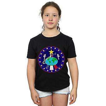 NASA meninas clássico globo astronautas t-shirt