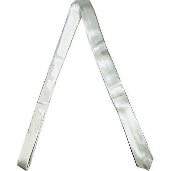 Slim satin tie - BASIC silver
