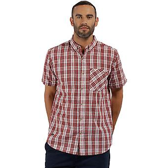 Regatta Mens Eathan Coolweave Cotton Short Sleeve Casual Shirt