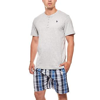 U.S. POLO ASSN. Pajama set-men's short gray sleeping suit