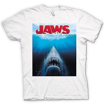 Mens T-shirt - Jaws Great White Shark - Movie