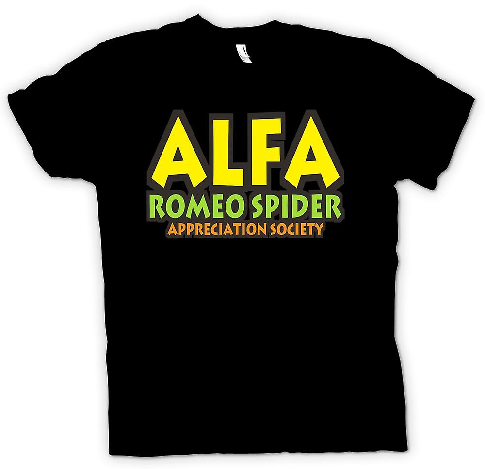 Womens T-shirt-Alfa Romeo Spider Appreciation Society