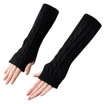 TRIXES Arm Warmers Fashionable Winter Knit Fingerless Long Mittens