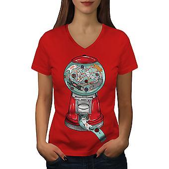 Gumball Machine Frauen RedV-Neck T-shirt   Wellcoda