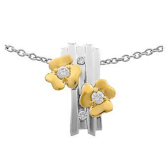 Orphelia Silber 925 Kette mit Anhänger Blumen und vergoldet Zirkon ZH-6039/1