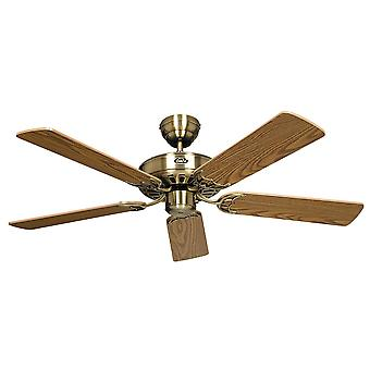 Ceiling fan Classic ROYAL Brass antique with pull cord 75 cm to 180 cm / 30