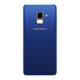 Samsung GH82 - 15551D batterie housse pour Galaxy A8 A530F 2018 + ruban adhésif Blau