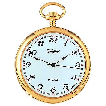Woodford Arabic Gold-Plated White Dial Mechanical Pocket 1031 Watch