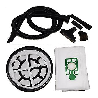 2.5 Metre Vacuum Hose 10 x Dust Bags + Filter + Tools Set Fits Harry