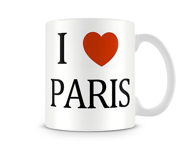 I Love Paris Printed Mug
