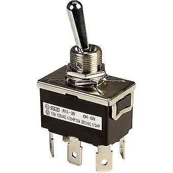 SCI R13-29B Toggle switch 250 V AC 10 A 2 x On/On latch 1 pc(s)