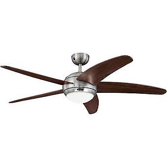 Westinghouse Bendan loft fan EEC: D (A ++ - E) (Ø) 132 cm Wing farve: brun sag farve: Aluminium (børstet)