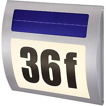Solar-drevet opplyst house numbers varm hvit Renkforce HN 058 HN 058 rustfritt stål