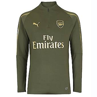 2018-2019 arsenal Puma Half Zip opleiding Top (Forest Night) - Kids