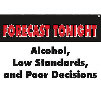 Forecast Tonight Steel Fridge Magnet