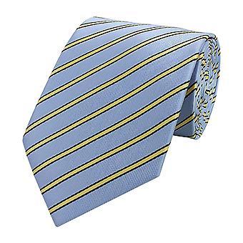 Cravatta cravatta cravatta cravatta 8cm blu nero giallo a righe Fabio Farini
