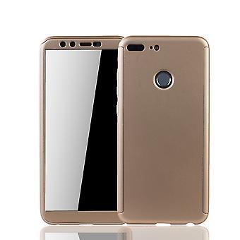 Huawei honor 9 Lite mobiltelefon skal skydd fallet full täcker tank skydd glas guld