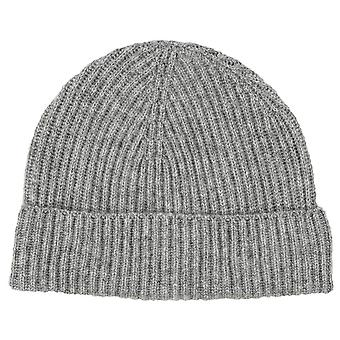 Johnstons of Elgin Full Cardigan Stitch Hat - Light Grey