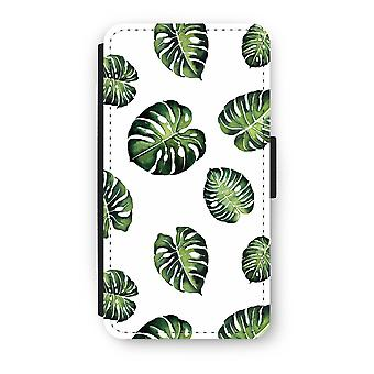iPhone XS Flip Case - Tropical leaves