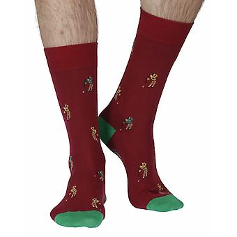 Kirby men's combed cotton dress sock in wine | By Scott-Nichol