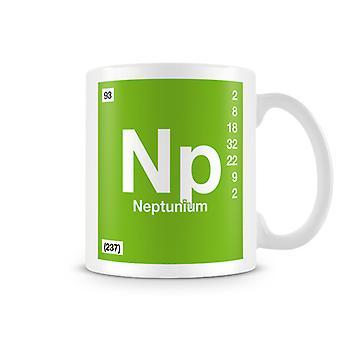 Wetenschappelijke bedrukte Mok met Element symbool 093 Np - Neptunium