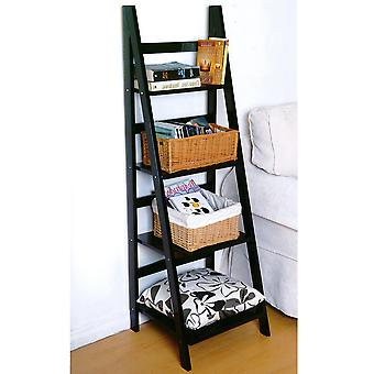 Scott - Ladder 4 Tier Storage / Display Shelves - Black