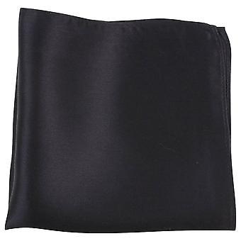 Plaza de bolsillo de Knightsbridge corbatas multa seda - negro