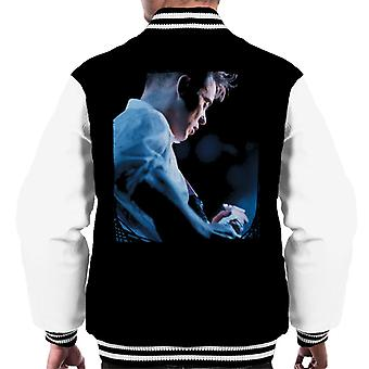 Bernard Sumner Of New Order Guitar Side Shot Men's Varsity Jacket