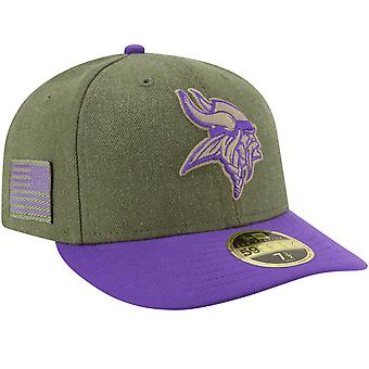 New era 59Fifty Cap LP salute to service Minnesota Vikings