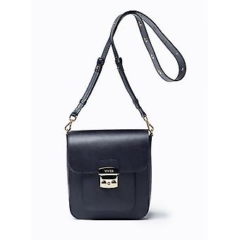 Viver Serenade Black Leather Crossbody Bag