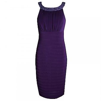 Dress Code By Veromia Beaded Neck Band Sleeveless Jersey Dress