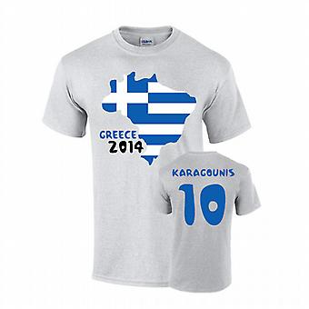 Grecia 2014 Country Flag t-shirt (karagounis 10)