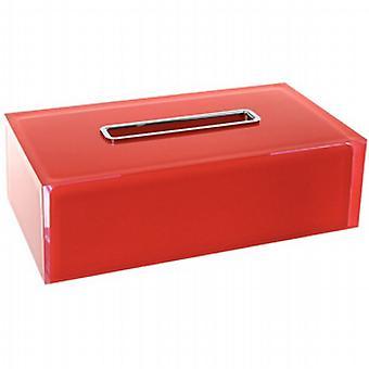 Gedy Rainbow rektangulære vev boks røde RA08 06