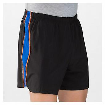 5 Inch Track Short Black/CobaltBlue/Orange Mens